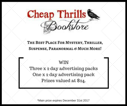 Cheap Thrills's Giveaway Graphic with border